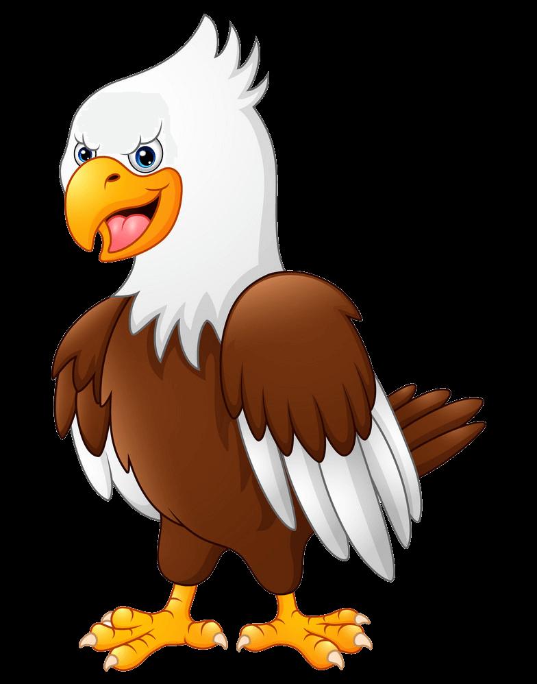 Cartoon Funny Eagle clipart transparent