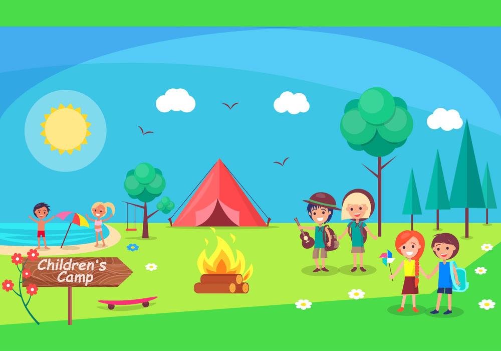 Children Camping clipart