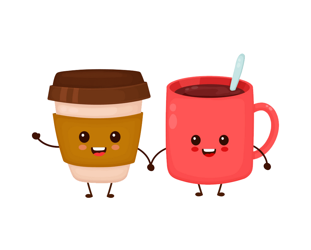 Coffee Cups clipart transparent