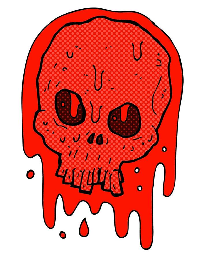 Comic Blood Skull clipart