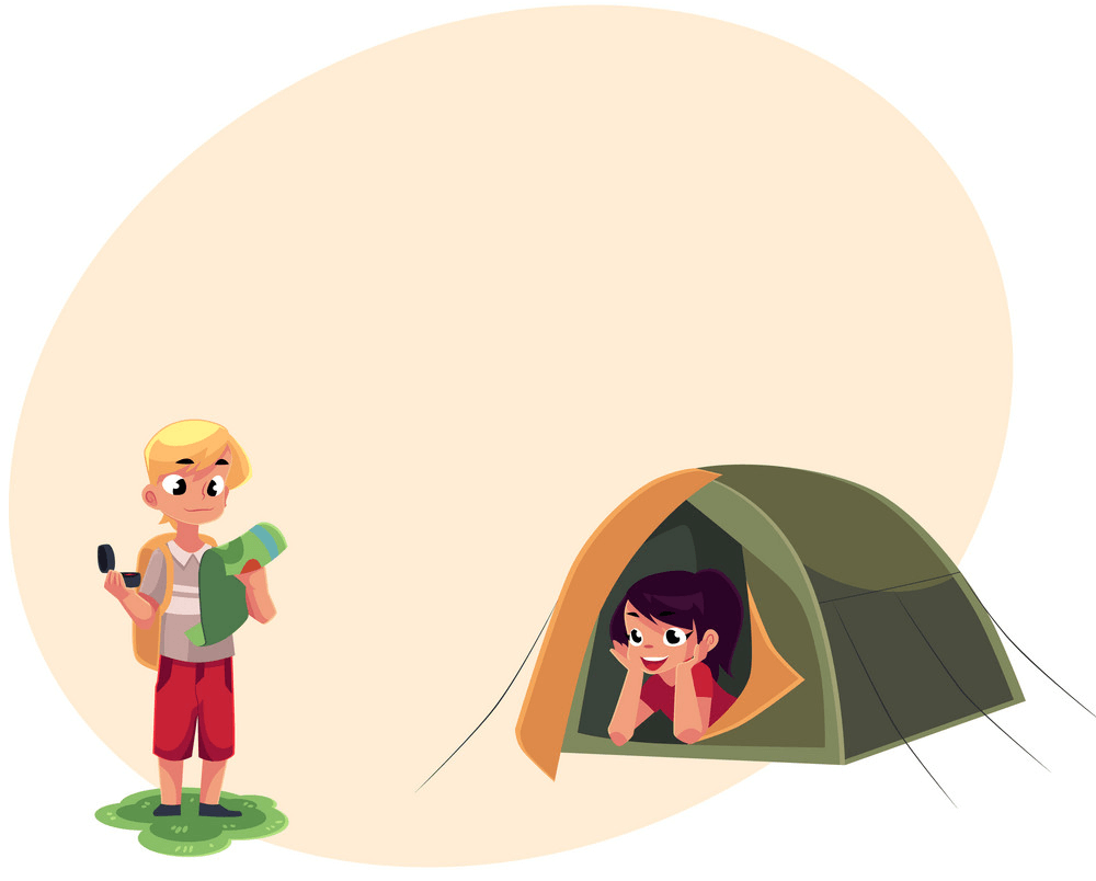 Couple Camping clipart