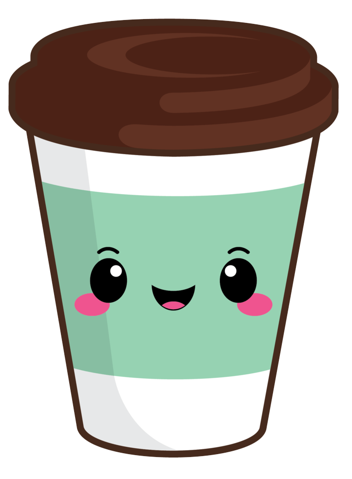 Cute Coffee Cup clipart transparent