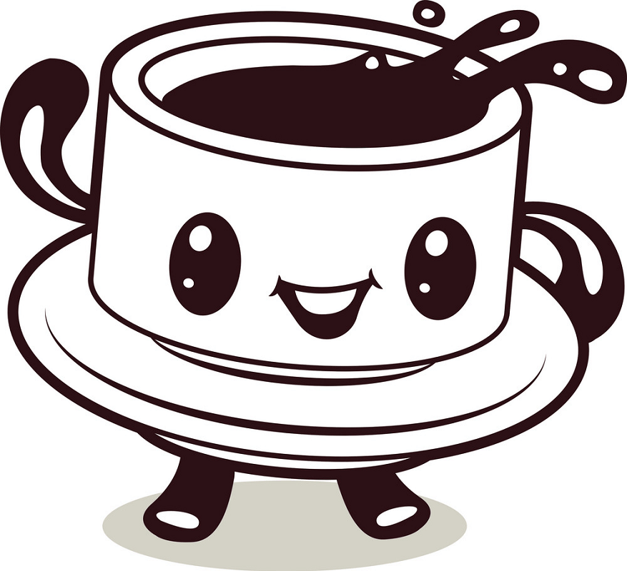 Cute Coffee Cup clipart