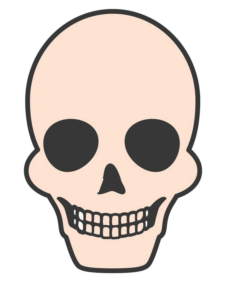 Death Skull clipart transparent