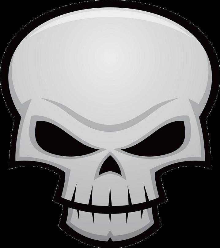 Evil Skull clipart transparent