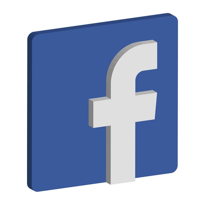Facebook 3D Icon clipart