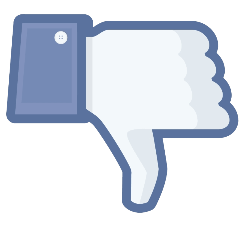 Facebook Dislike Thumb clipart transparent