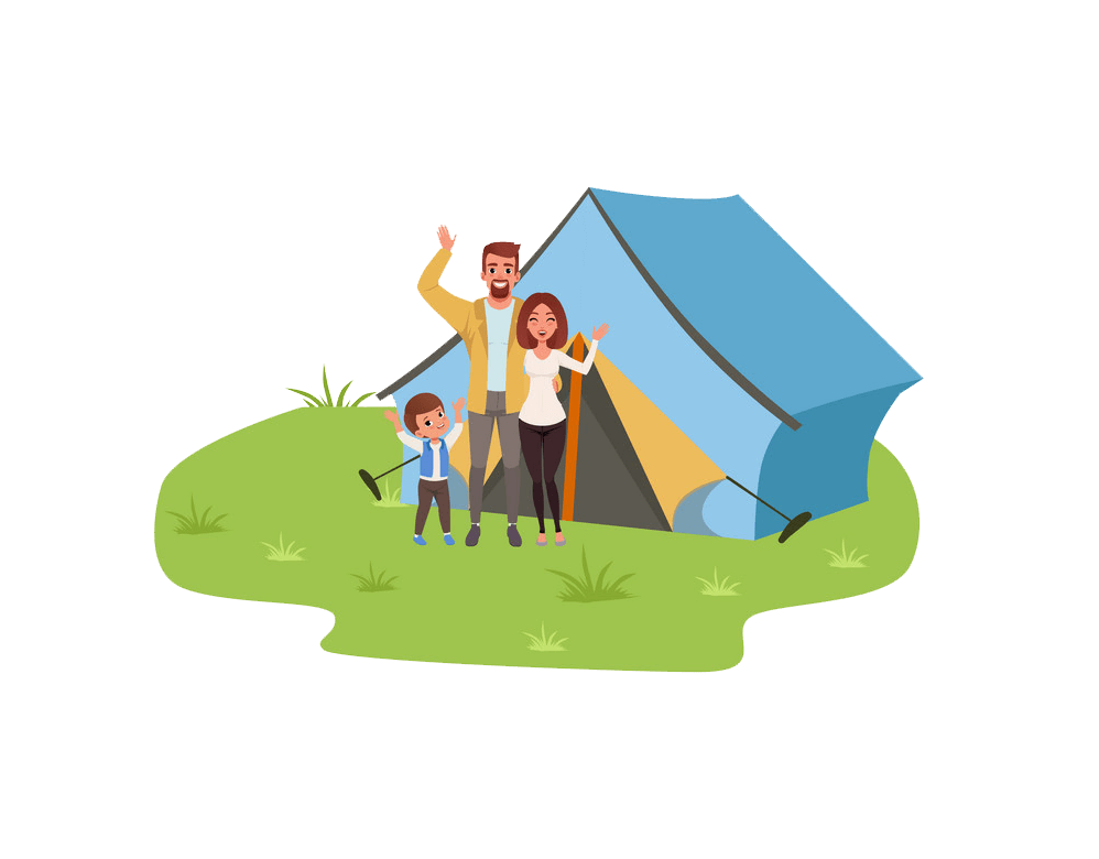 Family Camping clipart transparent