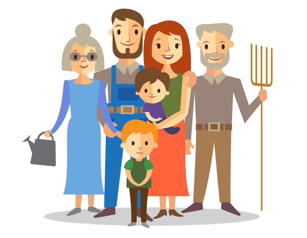 Farmers Family clipart