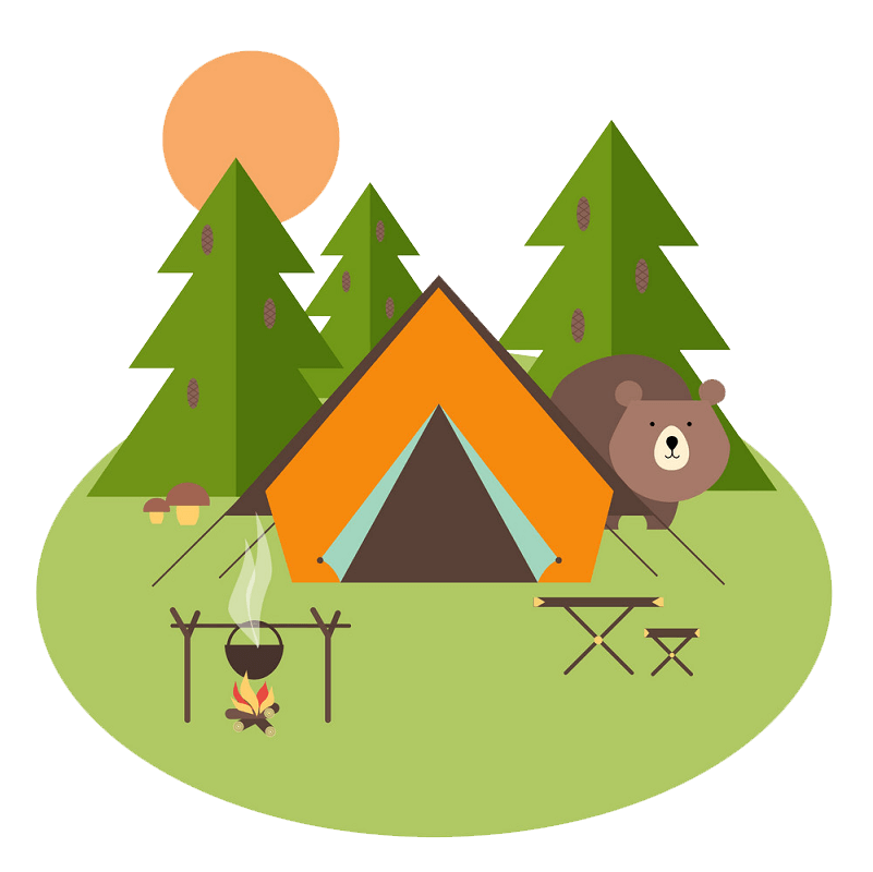 Forest Camping clipart transparent