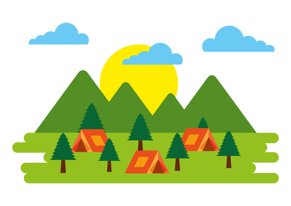Forest Outdoor Camping clipart transparent