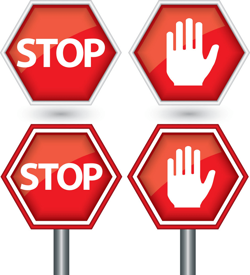 Four Stop Signs clipart