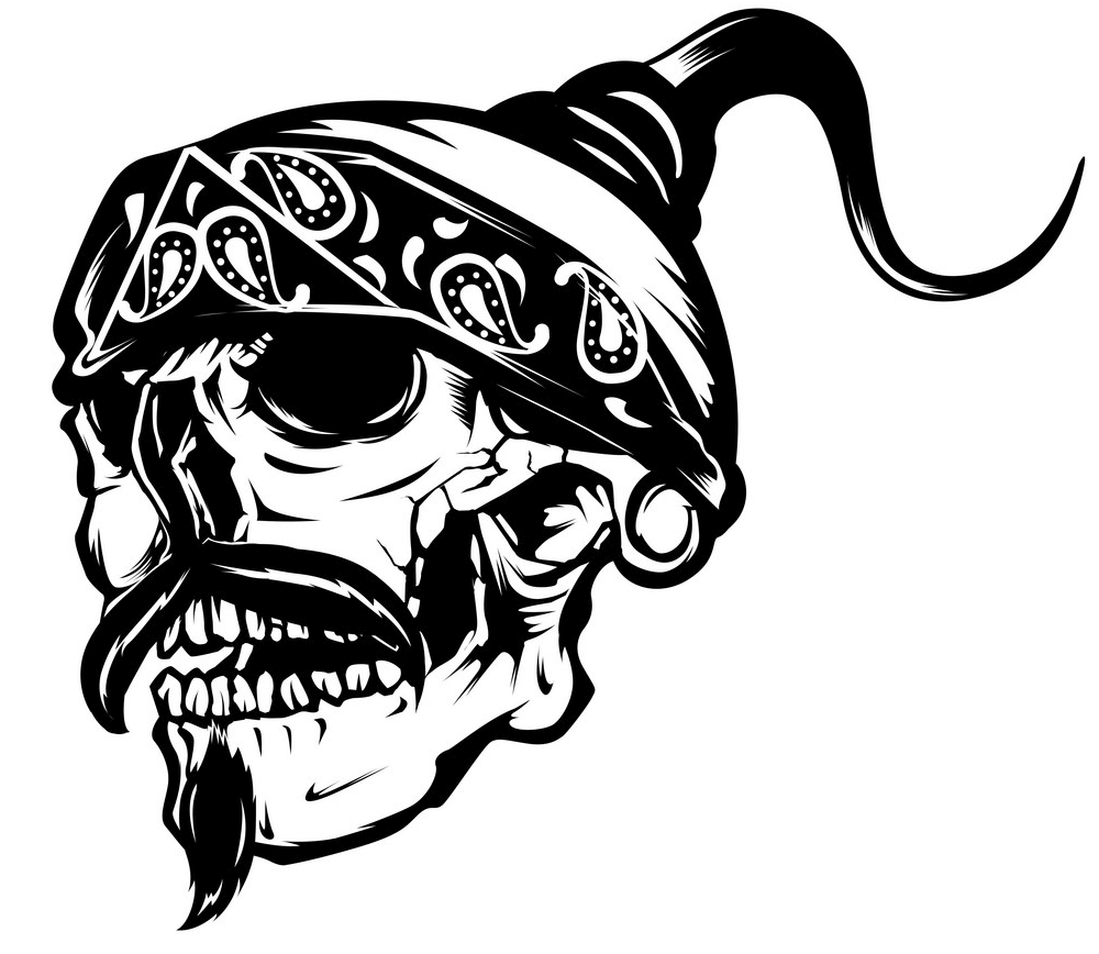Gangster Skull clipart