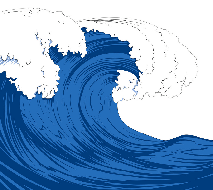 Giant Sea Waves clipart