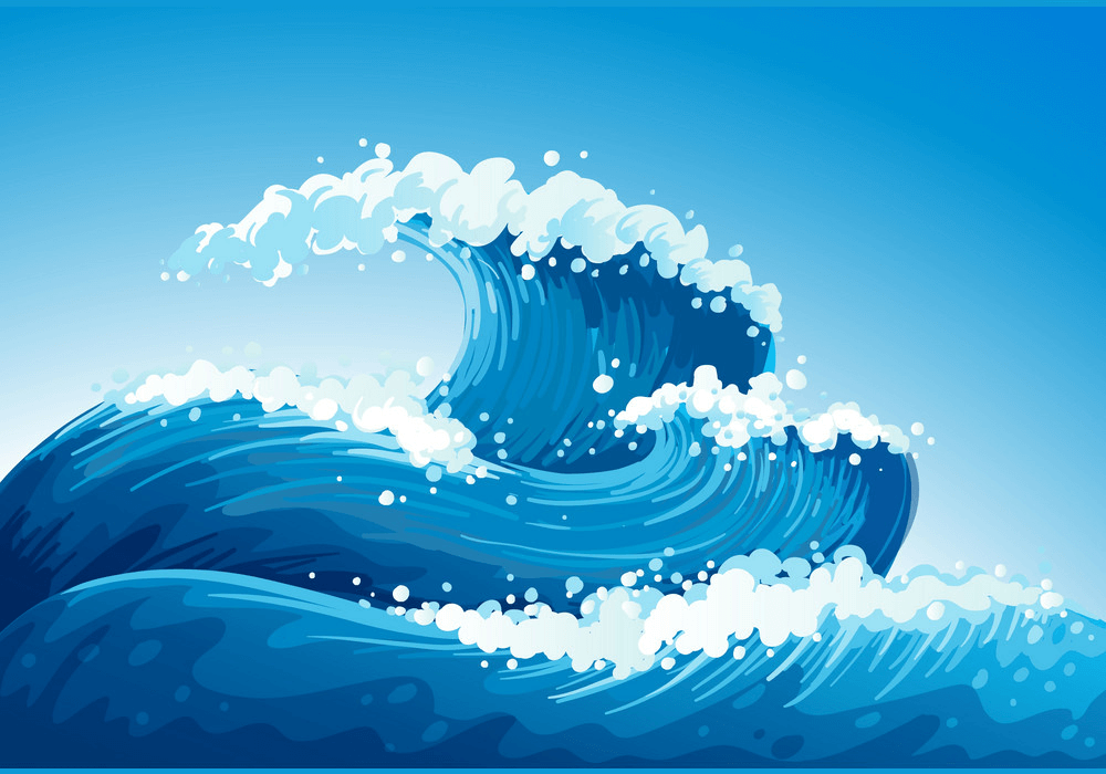Giant Waves clipart