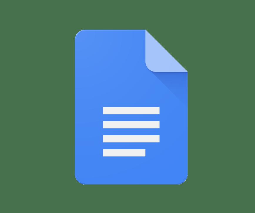 Google Docs icon clipart transparent