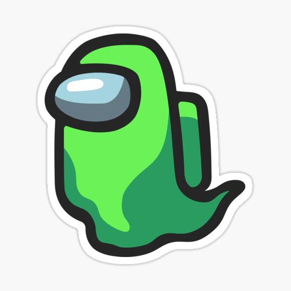 Green Ghost Among Us clipart