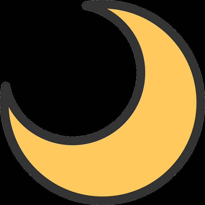 Half Moon clipart transparent