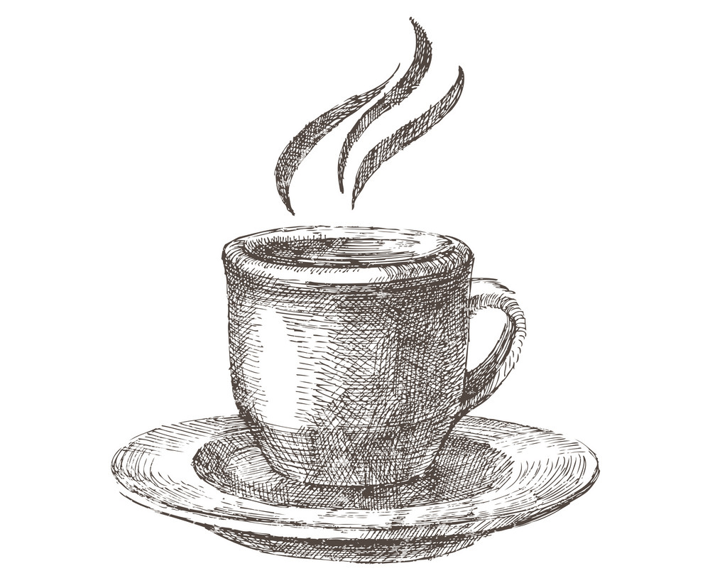 Hand Drawn Coffee Cup clipart png