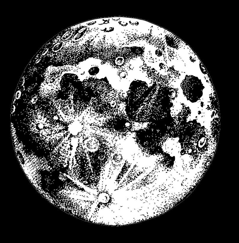 Hand Drawn Moon clipart transparent 1