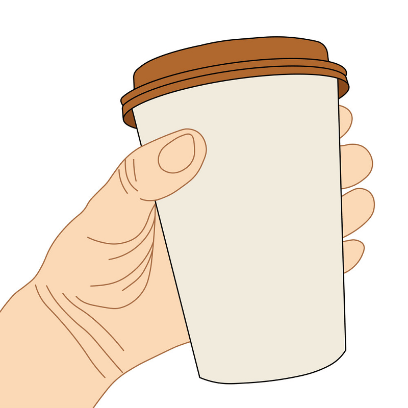 Hand Holding Coffee Cup clipart