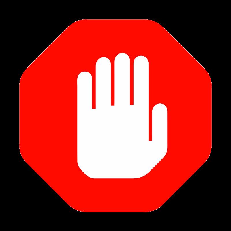 Hand Stop Sign clipart transparent