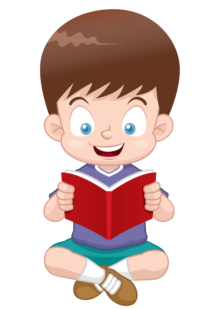 Happy Boy Reading clipart transparent