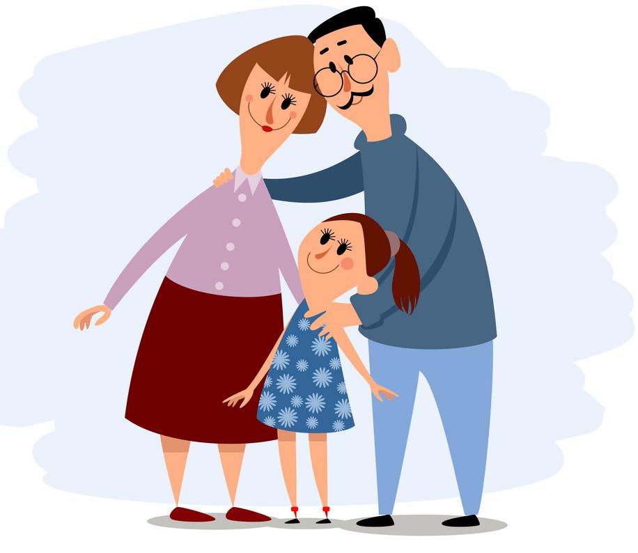Happy Small Family clipart