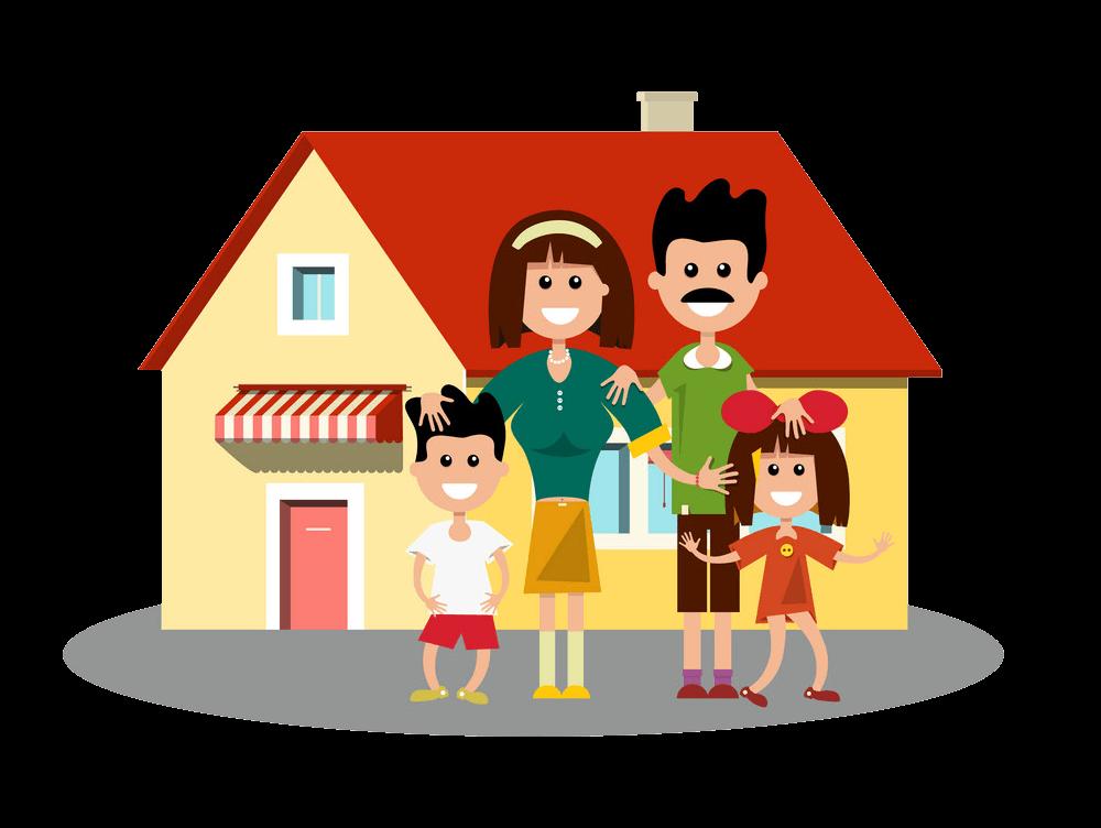 House Family clipart transparent