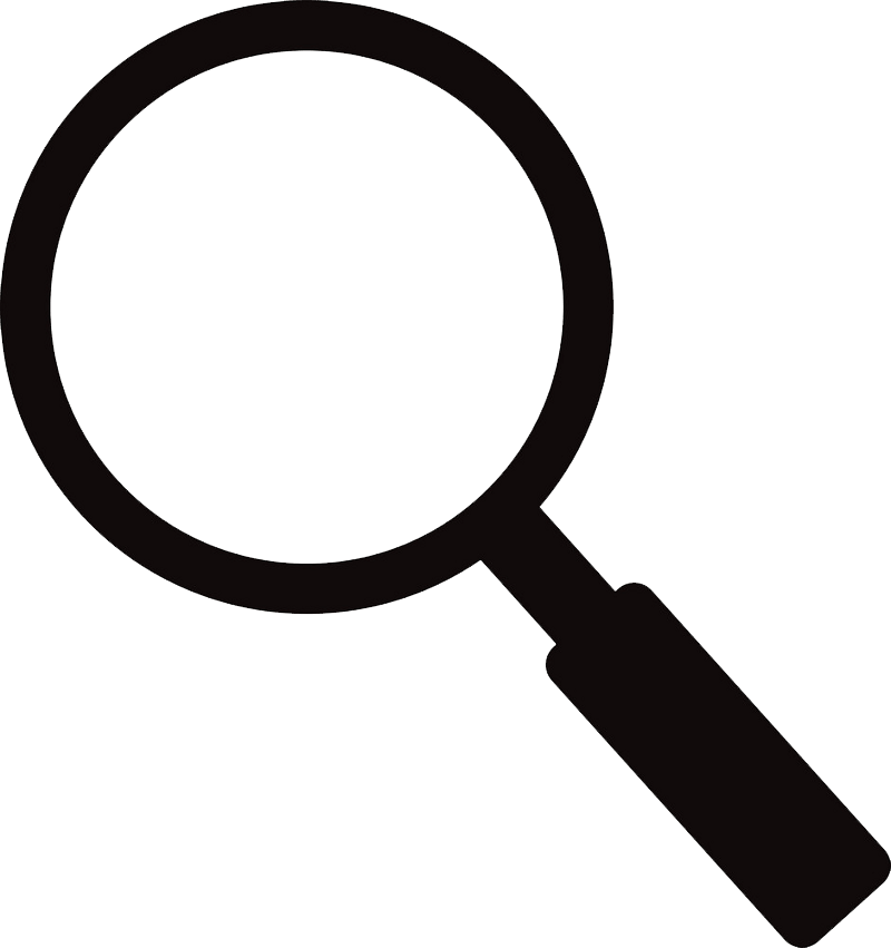 Icon Magnifying Glass clipart transparent