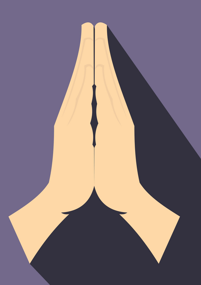 Icon Praying Hands clipart