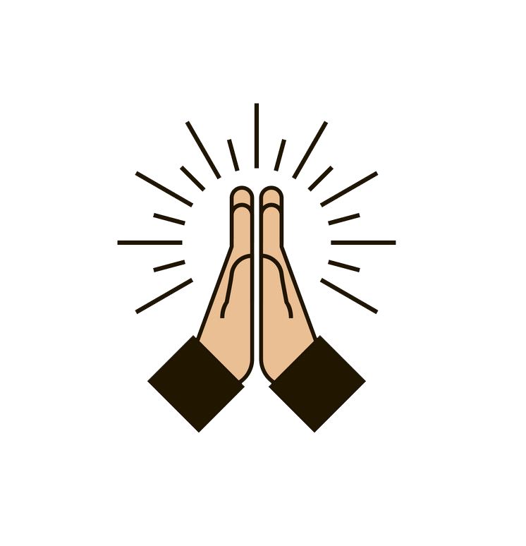 Icon Praying Hands transparent clipart
