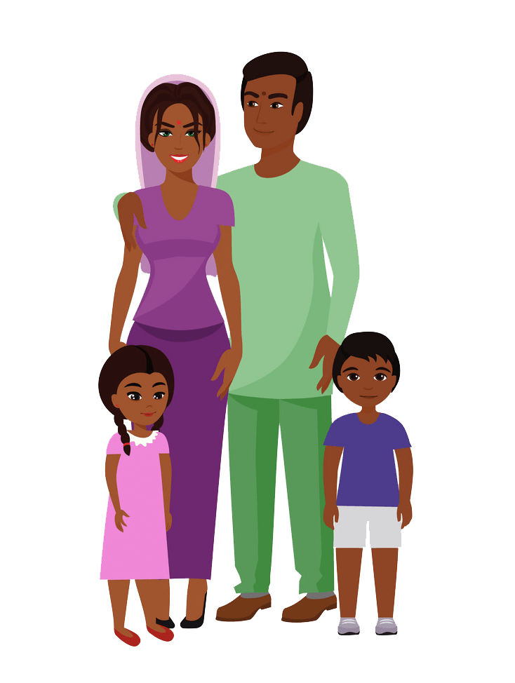 Indian Family clipart transparent