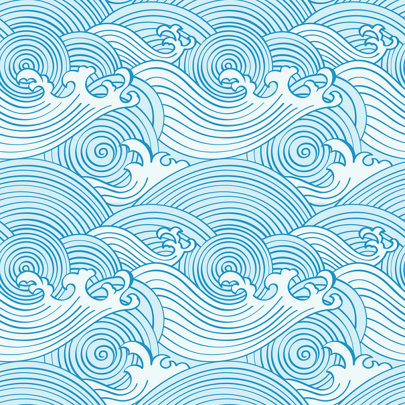Japanese Seamless Waves clipart