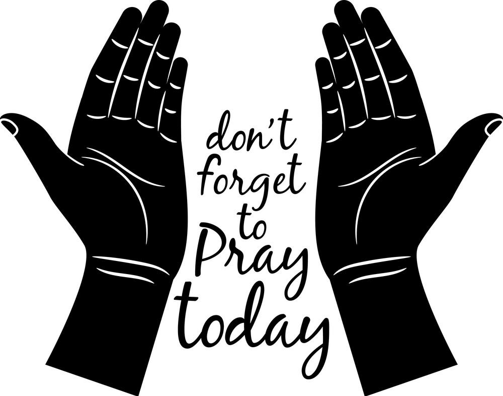 Jesus Praying Hands clipart