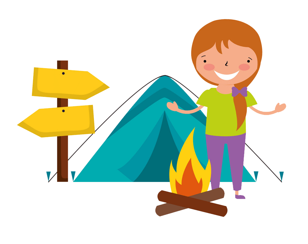 Kid Vacation Camping clipart transparent