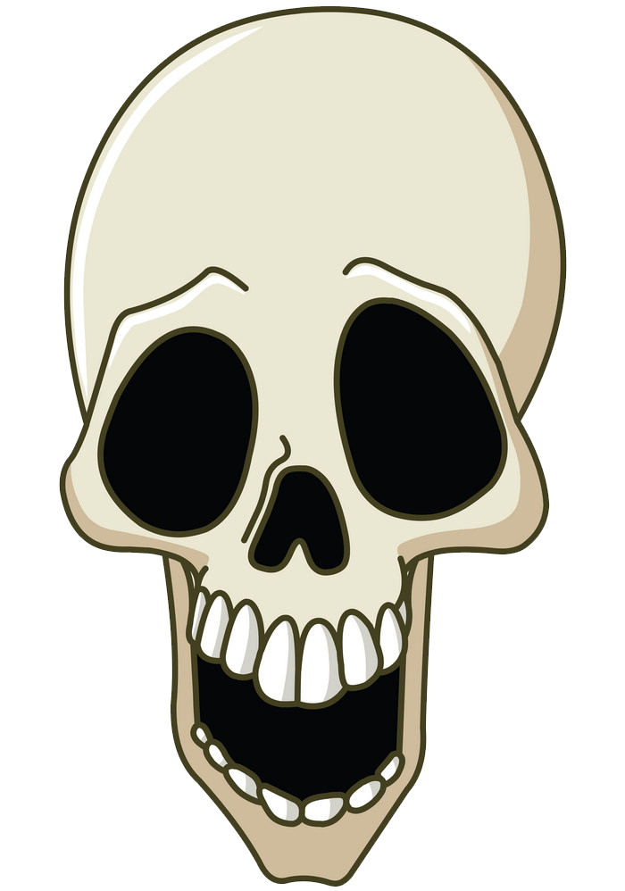 Laughing Skull clipart transparent