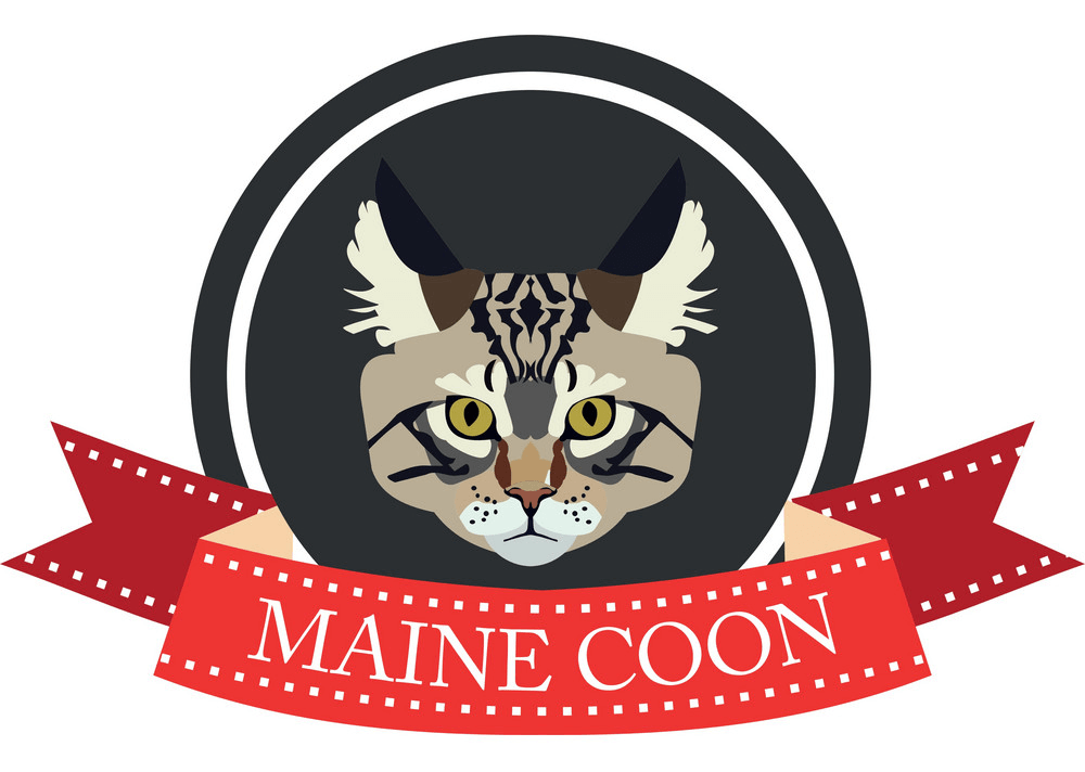 Logo Maine Coon Cat clipart