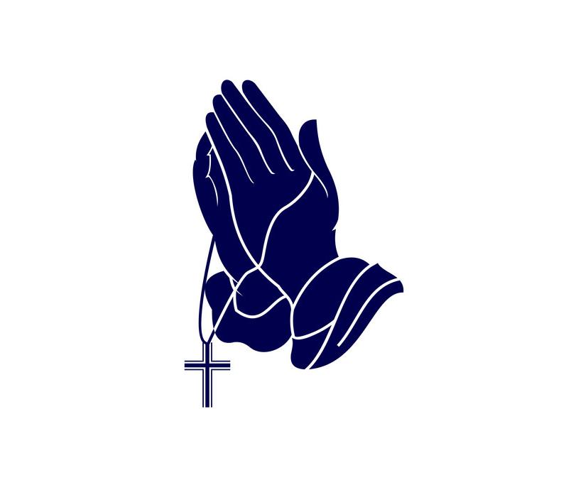 Logo Praying Hands clipart
