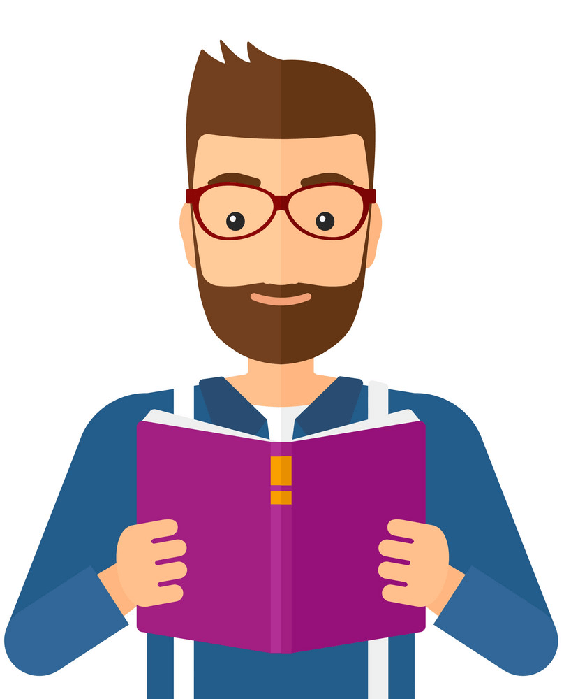 Man Reading clipart