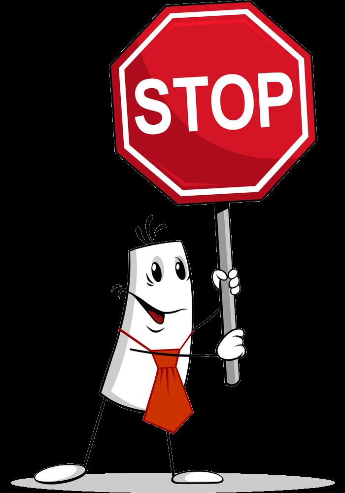 Man and Stop Sign clipart transparent