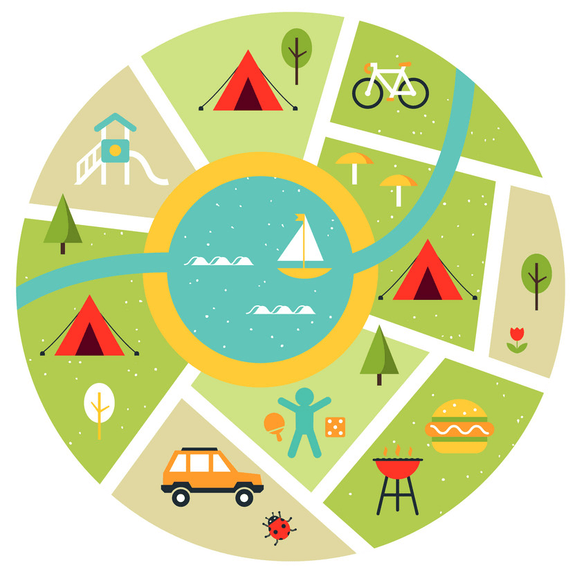 Map for Camping clipart