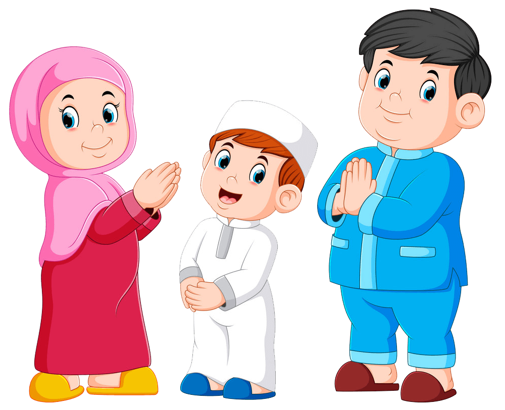 Moslem Family clipart transparent