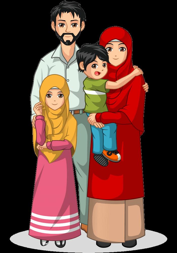 Muslim Family clipart transparent 1
