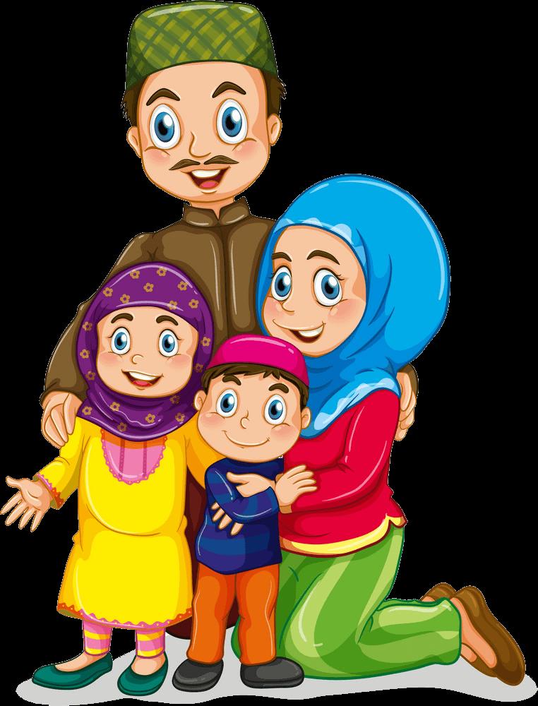 Muslim Family clipart transparent
