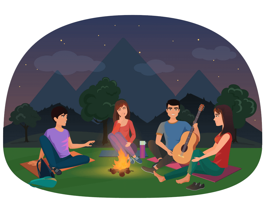 Night Camping clipart transparent