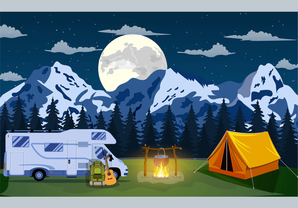 Night Camping clipart