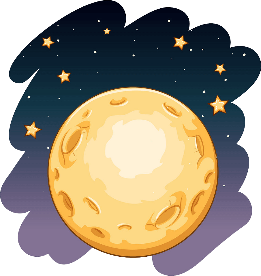 Over the Moon clipart transparent