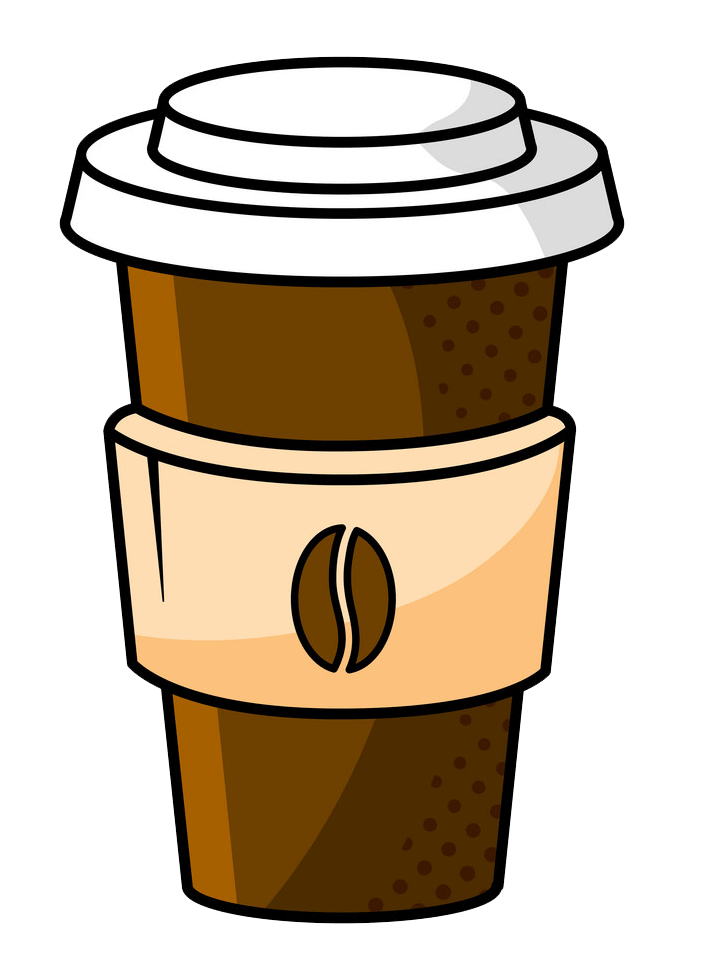 Paper Coffee Cup clipart transparent