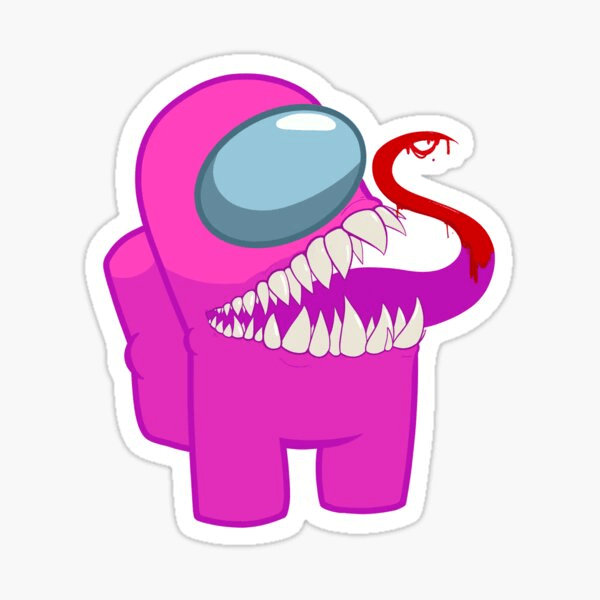 Pink Monster Among Us clipart